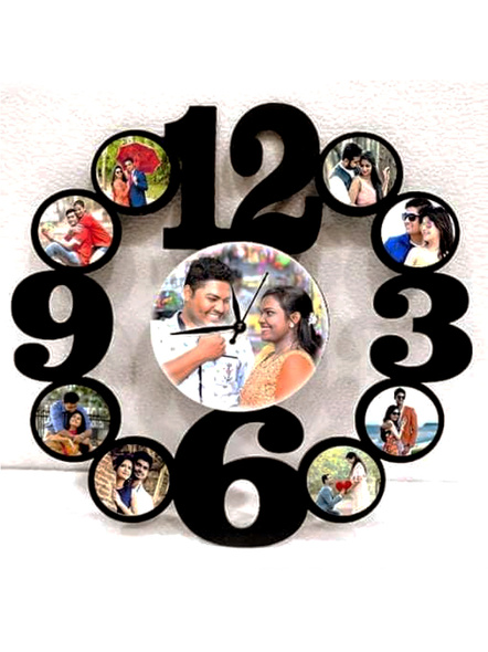 Clock Collage for Birthday 9 Photos-Bir0033-12-12