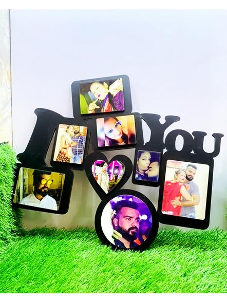 I Love You Text Wooden Frame 8 Photos-Bir0047-14-16