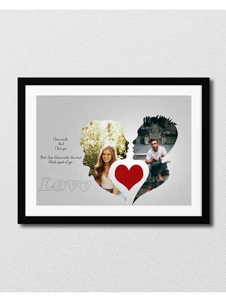 Artistic Couple Frame Loving Designer 2 Photos frame-Artisticfrm006-8-12