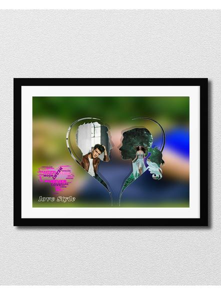 Artistic 2 Photos Couple Frame-Artisticfrm007-8-12