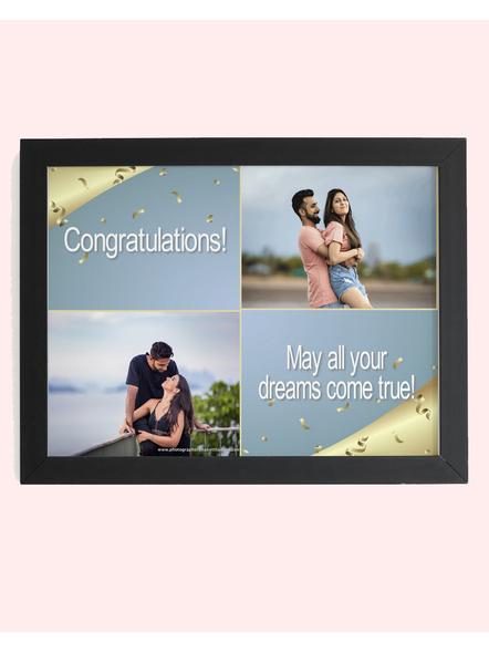 2 Photos Dream Come True Collage Photo Frame-Artisticfrm019-8-12