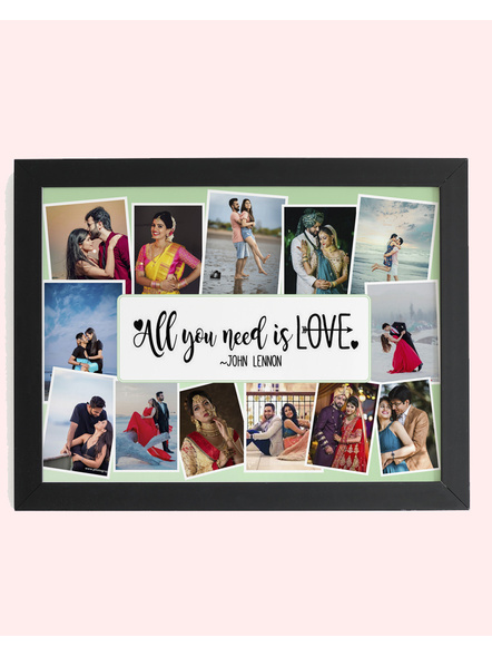 12 Photos Quote Printed Collage Photo Frame-Artisticfrm021-12-18