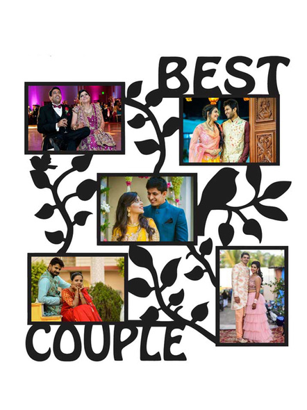 Best Couple 5 Photos Wooden Frame-ptofrm083-14-14