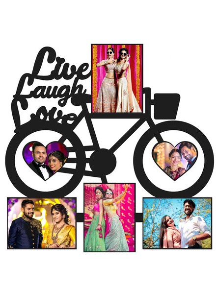Live Laugh Love 6 Photos Wooden Photo Frame-ptofrm093-12-12