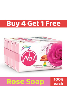 Godrej No1 Soap - Rose Water Set 4+1pc