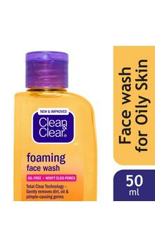 Clean & Clear Foaming Face Wash - 50ml/100ml