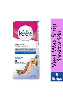 Veet Instant Wax Strip - Sensitive Skin 8 str...