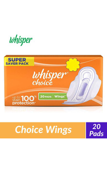 Whisper Choice Wings Sanitary Pads - 20 Piece...