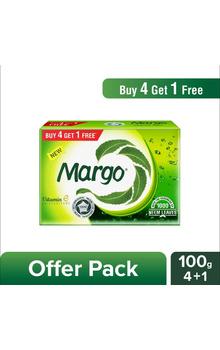 Margo Neem Bathing Soap - 100g (Buy 4 Get 1 F...