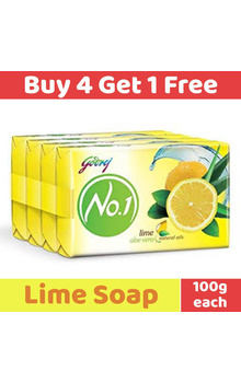 Godrej No.1 Soap - Lime Aloevera with Natural...