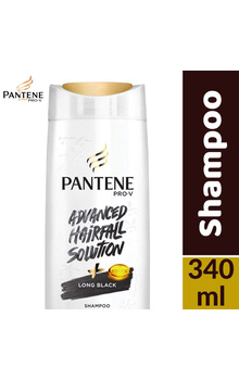 Pantene Shampoo - Long Black 340ml Bottle