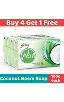 Godrej No.1 Soap - Coconut Neem with Natural ...