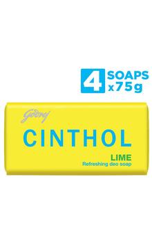 Cinthol Bathing Bar - Lime Soap 75g x 4pc