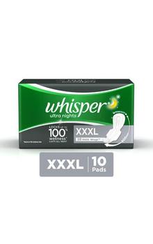 Whisper Ultra Night Sanitary Pads - XXXL (10 ...