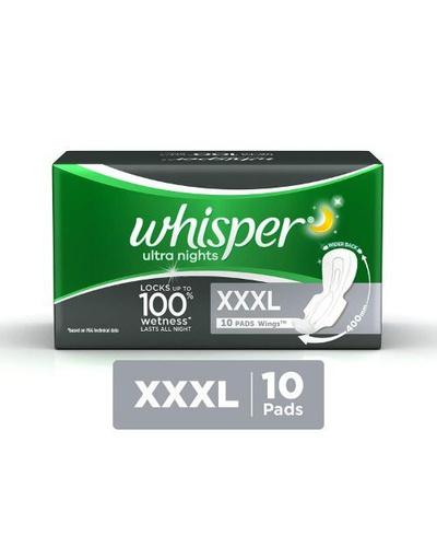 Whisper Ultra Night Sanitary Pads - XXXL (10 ...-BM1092