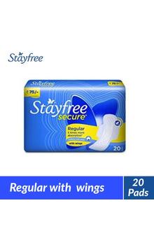 Stayfree Secure Regular Wings Sanitary Napkin...