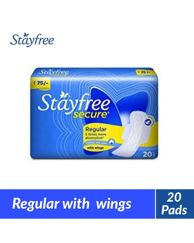 Stayfree Secure Regular Wings Sanitary Napkin...-BM1089