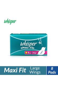 Whisper Maxi Fit Sanitary Pads - L Wings (8 p...