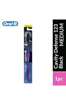 Oral-B Cavity Defense 123 Black Medium Toothb...