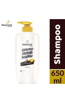 Pantene Shampoo - Long Black 650ml Pump