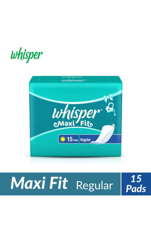 Whisper Maxi Fit Sanitary Pads - Regular (15 ...
