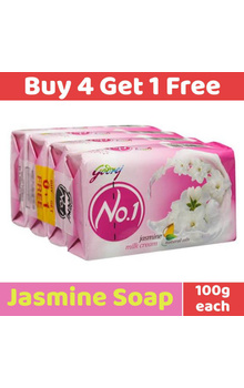 Godrej No.1 Soap - Jasmine Milk Cream 100g (P...