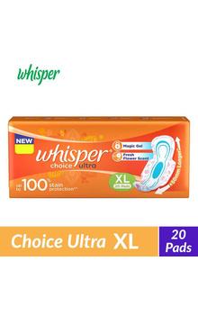 Whisper Choice Ultra Sanitary Napkins - XL (2...