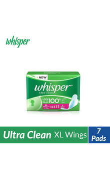 Whisper Ultra Clean Sanitary Pads - XL Wings ...