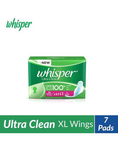 Whisper Ultra Clean Sanitary Pads - XL Wings ...-BM1080