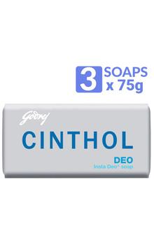 Cinthol Deo Bathing Bar - Deo Soap 75g x 3pc