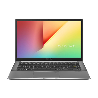 ASUS VivoBook S S14 Intel Core i5-1135G7 11th Gen, 14-inch FHD Thin and Light Laptop (8GB RAM/512GB SSD + 32GB Optane Memory/Windows 10/Office 2019/Iris Xᵉ Graphics/Indie Black/1.4 Kg), S433EA-AM501TS-S433EA-AM501TS