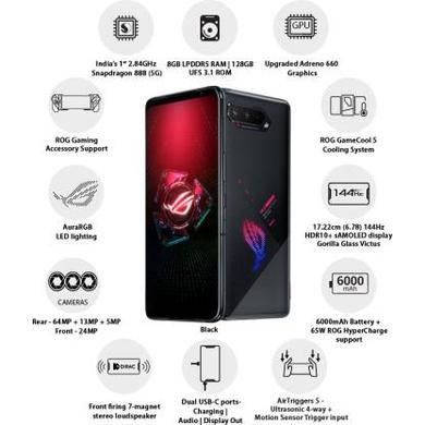 ASUS ROG Phone 5 (Black, 128 GB)  (8 GB RAM)-8 GB-1