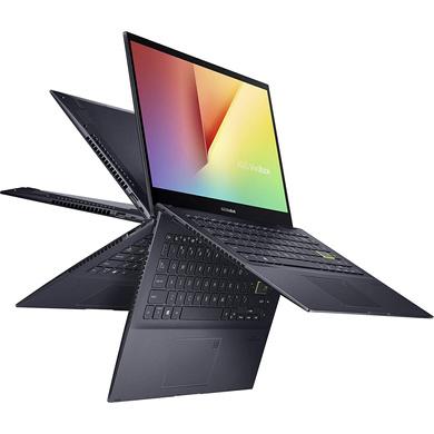 "ASUS Laptop R7-5700U/2in1 Convertible/8G/512G PCIe SSD/BESPOKE BLACK/14.0"" FHD IPS TOUCH/1Y international warranty + McAfee/Win 10/Office H&S/Stylus/Finger Print-TM420UA-EC701TS"