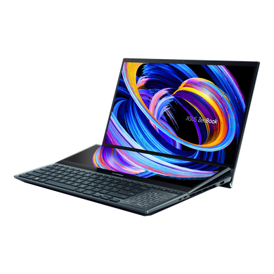 """ASUS Laptop i9-10980HK/RTX3070_8G/32G/1T PCIe SSD X4/CELESTIAL BLUE/15.6"""" UHD OLED TOUCH/1Y international warranty + McAfee/Office H&S/SCREENPAD/Soft Stand/Stylus/Palm Rest/Sleeve UX582LR-H901TS-UX582LR-H901TS"""