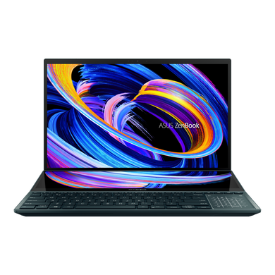 """ASUS Laptop i9-10980HK/RTX3070_8G/32G/1T PCIe SSD X4/CELESTIAL BLUE/15.6"""" UHD OLED TOUCH/1Y international warranty + McAfee/Office H&S/SCREENPAD/Soft Stand/Stylus/Palm Rest/Sleeve UX582LR-H901TS-2"""