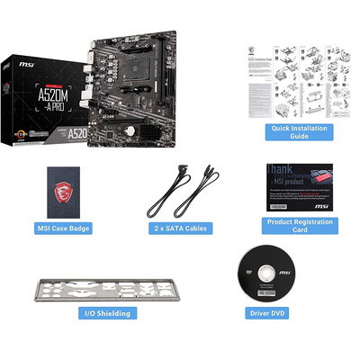 MOTHERBOARD MSI A520M-A PRO-4