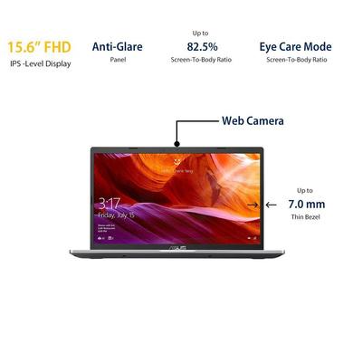 ASUS VivoBook AMD Quad Core Ryzen 5-3500U(4GB RAM/256GB SSD/Win10+Ms Off H&S 2019+McAfee/Integrated Vega 8 Graphics/15.6-inch FHD IPS/ (M515DA-BQ522TS)-1
