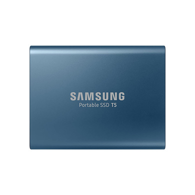 Samsung T5 500GB Up to 540MB/s USB 3.1 Gen 2 (10Gbps, Type-C) External Solid State Drive (Portable SSD) Alluring Blue-CAS-SSD-99