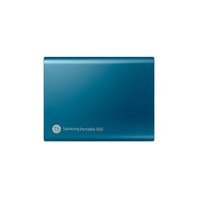 Samsung T5 500GB Up to 540MB/s USB 3.1 Gen 2 (10Gbps, Type-C) External Solid State Drive (Portable SSD) Alluring Blue-1