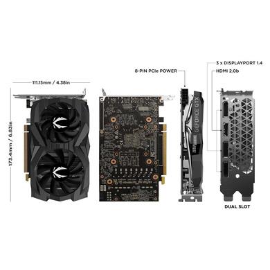 ZOTAC GeForce GTX 1660 Super Twin Fan 6GB GDDR6 192-bit Super Compact Gaming Graphics Card-1