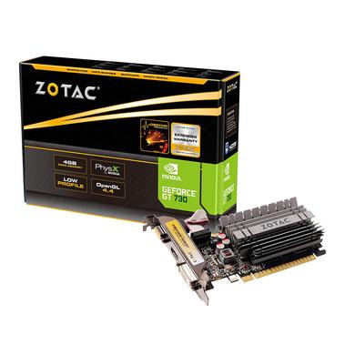 ZOTAC GeForce GT 730 4GB DDR3-CAS-GC-101