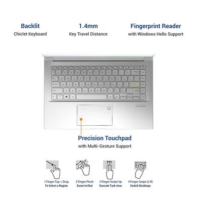 ASUS VivoBook Ultra K14 (i3-1115G4/8GB RAM/512 GB NVMe SSD/Win10+McAfee/Ms Office H&S 2019/14 inch FHD IPS/ Intel UHD Graphics /FP Reader/1.4 kg/1 Yr. Warranty)K413EA-EB302TS-4