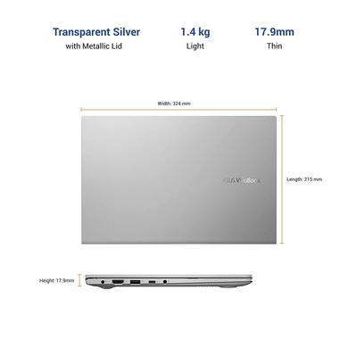 ASUS VivoBook Ultra K14 (i3-1115G4/8GB RAM/512 GB NVMe SSD/Win10+McAfee/Ms Office H&S 2019/14 inch FHD IPS/ Intel UHD Graphics /FP Reader/1.4 kg/1 Yr. Warranty)K413EA-EB302TS-3