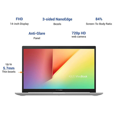 ASUS VivoBook Ultra K14 (i3-1115G4/8GB RAM/512 GB NVMe SSD/Win10+McAfee/Ms Office H&S 2019/14 inch FHD IPS/ Intel UHD Graphics /FP Reader/1.4 kg/1 Yr. Warranty)K413EA-EB302TS-2