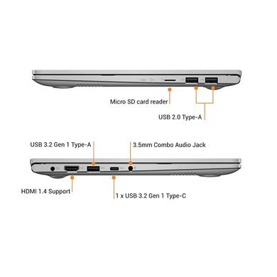 ASUS VivoBook Ultra K14 (i3-1115G4/8GB RAM/512 GB NVMe SSD/Win10+McAfee/Ms Office H&S 2019/14 inch FHD IPS/ Intel UHD Graphics /FP Reader/1.4 kg/1 Yr. Warranty)K413EA-EB302TS-1