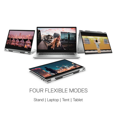"""Dell Inspiron 5406 14"""" FHD Touch 2in1 Laptop (11th Geni3-1115G4 / 8GB / 512GB SSD / Integrated Graphics/ Win 10 + MSO / Backlit KB with FPR & Stylus Pen) D560384WIN9S-1"""