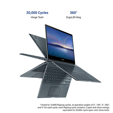 """ASUS ZenBook Flip 13 OLED, Intel Core i5-1135G7 11th Gen, 13.3"""" FHD Touch 2-in-1 Laptop (8GB/512GB SSD + 32GB Optane Memory/Windows 10/Office 2019/Iris Xᵉ Graphics/1.3 kg), UX363EA-HP501TS-4"""
