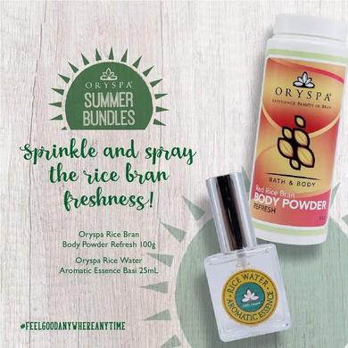 Aromatic Essence AM Mist 25ML with Body Powder Refresh 100G-PerfumeandPowder