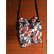 Navy floral waterproof Lunch Bag with Nylon Strap-LBBLUFLOR-sm