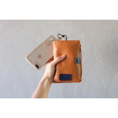 Camel Leather Gadget Pouch-1